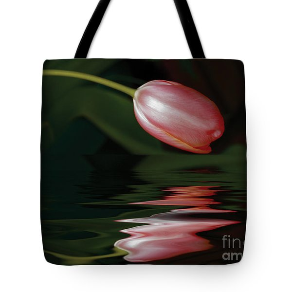 Tote Bag featuring the photograph Tulip Reflections by Elaine Teague