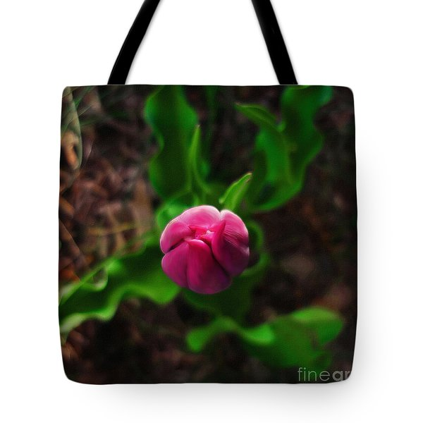 Tote Bag featuring the photograph Tulip Rising by Jeff Breiman