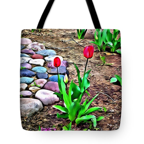 Tote Bag featuring the photograph Tulip Rock Garden by Beauty For God