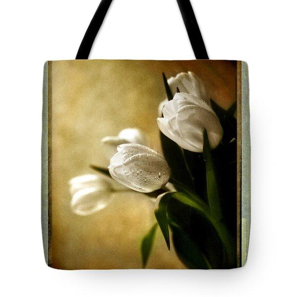 Tulip Side Sepia Tote Bag