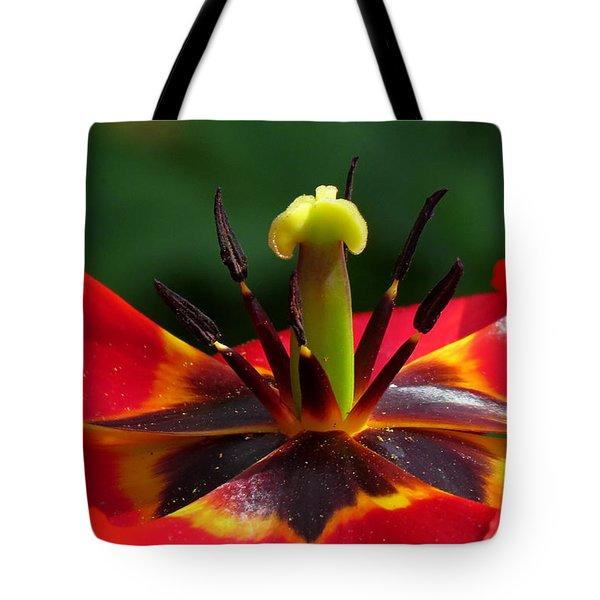 Tulip Stamen Tote Bag by John Topman