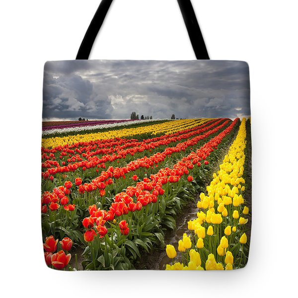 Tulip Storm Tote Bag by Mike  Dawson