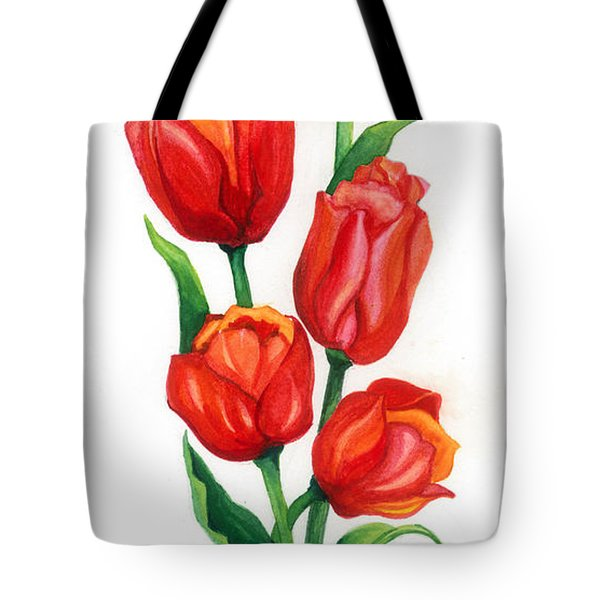 Tote Bag featuring the painting Tulip Time by Barbara Jewell