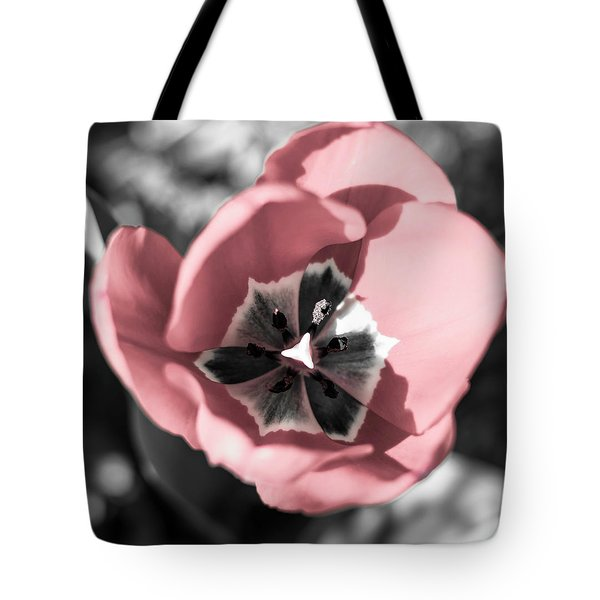 Tote Bag featuring the photograph Tulip Up Close by Keith Smith