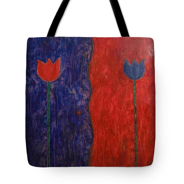Tote Bag featuring the painting Tulip by Walter Casaravilla