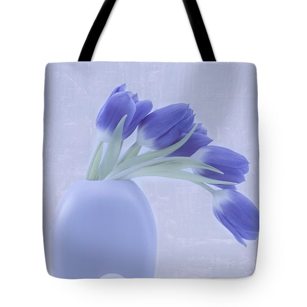 Tulips And Birdies  Tote Bag