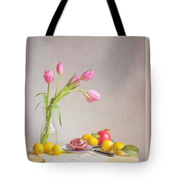 Tulips And Fruit Tote Bag