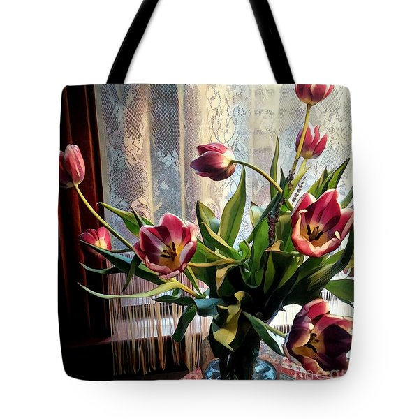 Tulips And Lace Tote Bag