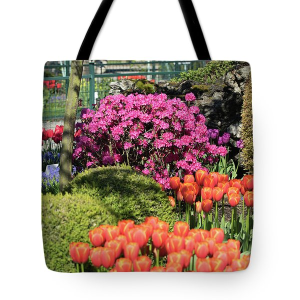 Tulips And Rhodies Tote Bag