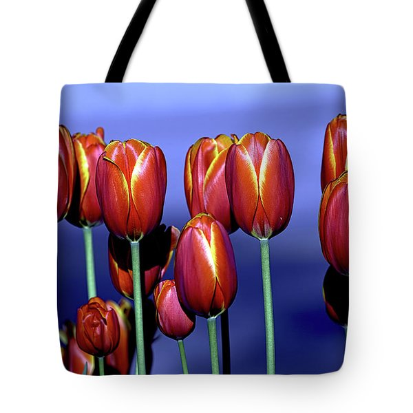 Tulips At Attention Tote Bag