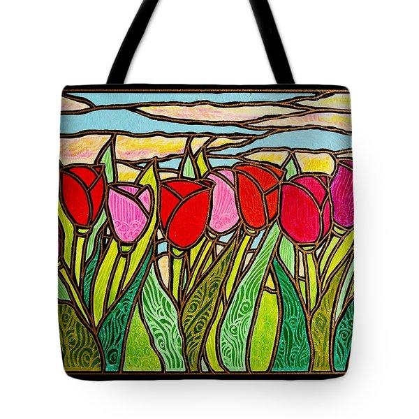 Tulips At Sunrise Tote Bag