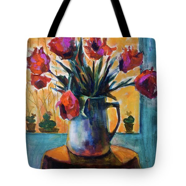 Tulips At Sunset Tote Bag