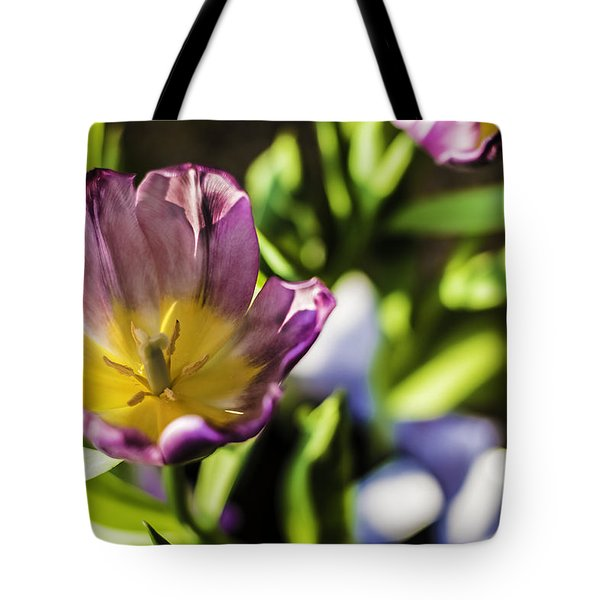 Tulips At The End Tote Bag