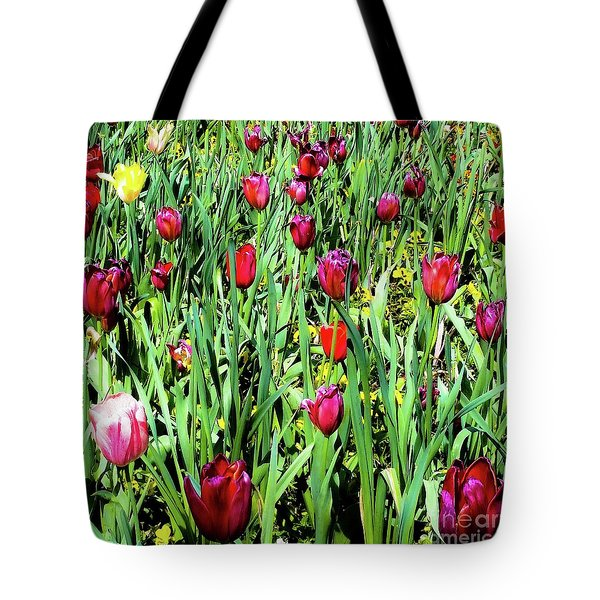 Tulips Blooming Tote Bag