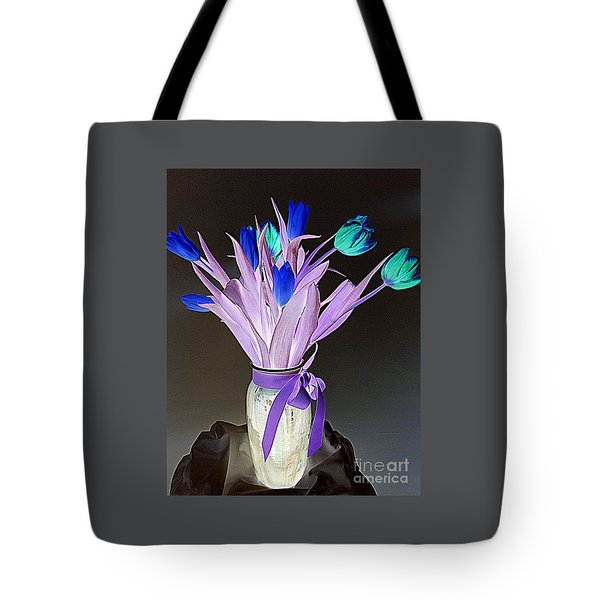 Tulips Cancer 1 Tote Bag by Richard W Linford