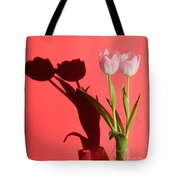 Tulips Casting Shadows Tote Bag
