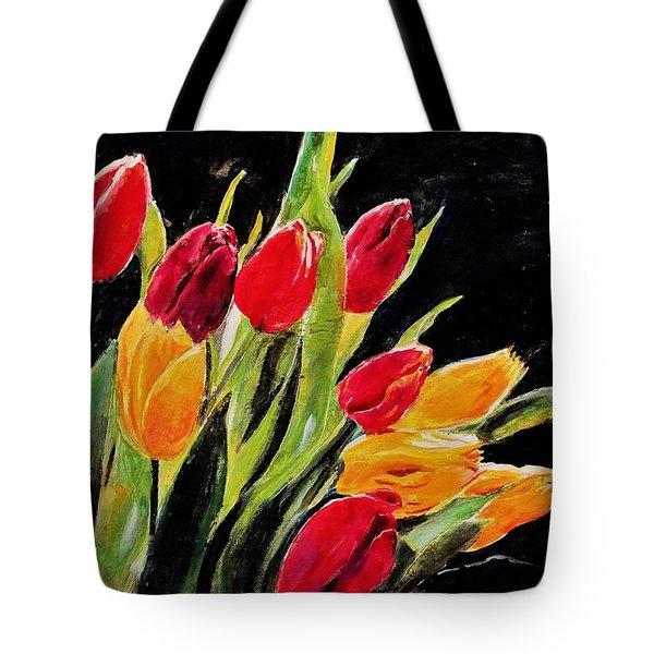 Tulips Colors Tote Bag
