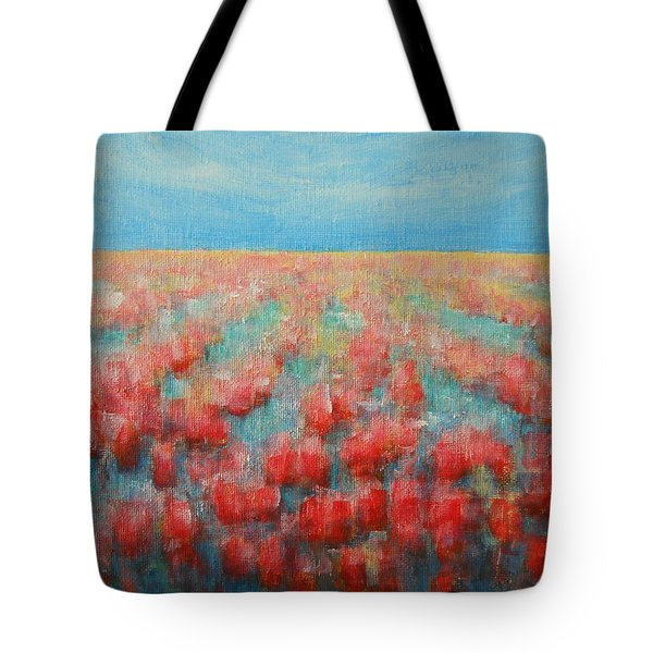 Tulips Dance Abstract 4 Tote Bag