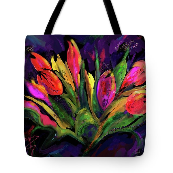 Tulips Tote Bag by DC Langer