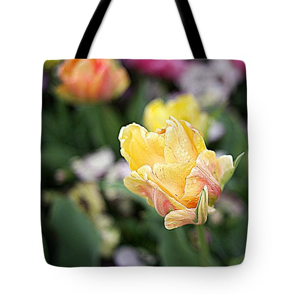 Tote Bag featuring the photograph Tulips by Diana Mary Sharpton