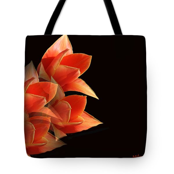 Tulips Dramatic Orange Montage Tote Bag
