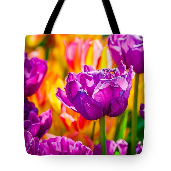Tote Bag featuring the photograph Tulips Enchanting 41 by Alexander Senin