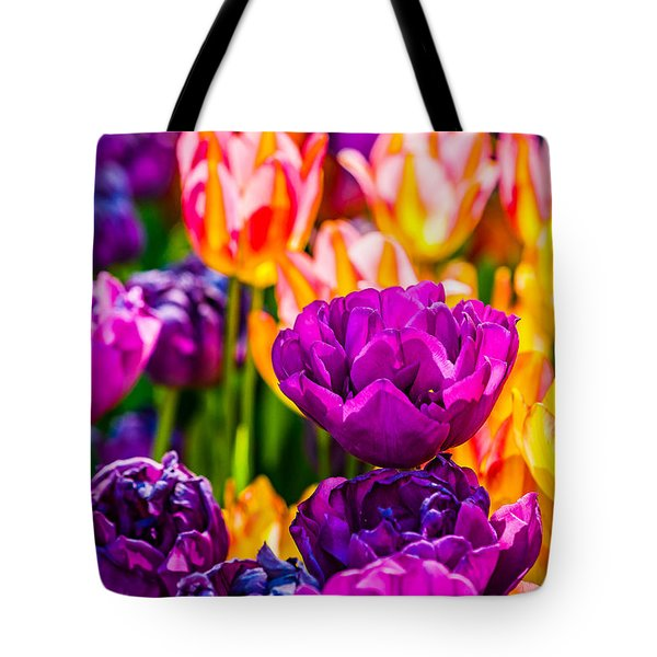 Tote Bag featuring the photograph Tulips Enchanting 42 by Alexander Senin