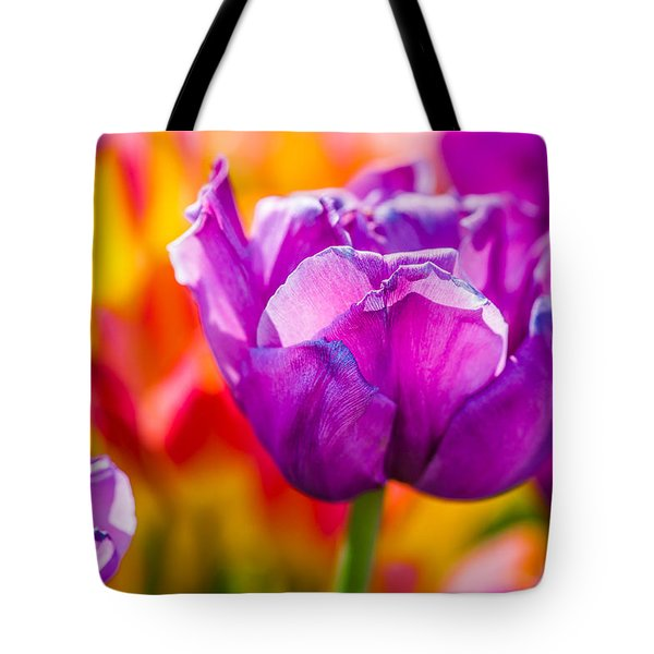 Tote Bag featuring the photograph Tulips Enchanting 43 by Alexander Senin