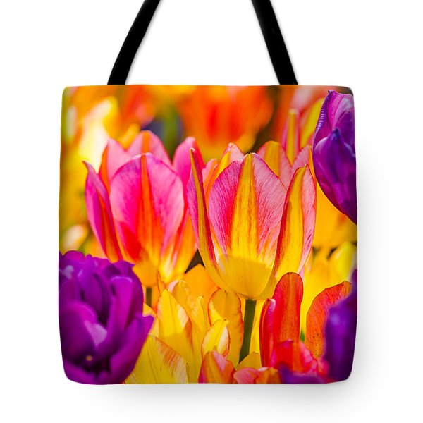 Tote Bag featuring the photograph Tulips Enchanting 45 by Alexander Senin