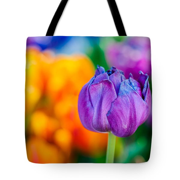 Tote Bag featuring the photograph Tulips Enchanting 46 by Alexander Senin