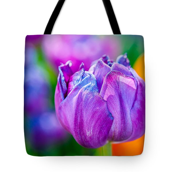 Tote Bag featuring the photograph Tulips Enchanting 47 by Alexander Senin