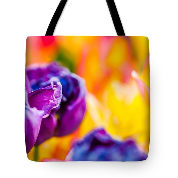 Tote Bag featuring the photograph Tulips Enchanting 49 by Alexander Senin