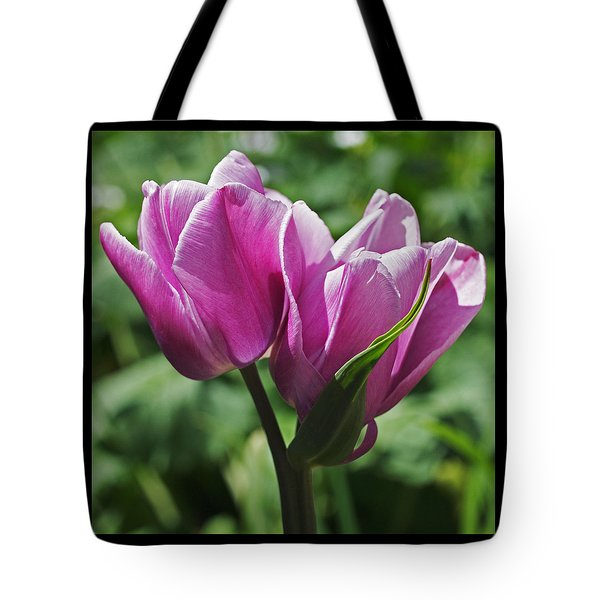 Tulips Entwined Tote Bag by Rona Black