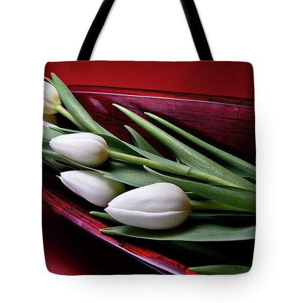 Tulips II Tote Bag by Tom Mc Nemar