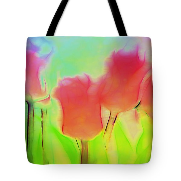 Tulips In Abstract 2 Tote Bag