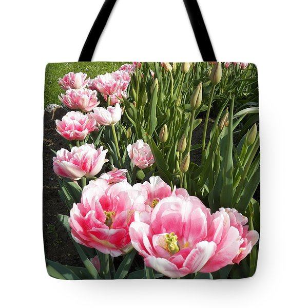 Tulips In Pink Tote Bag