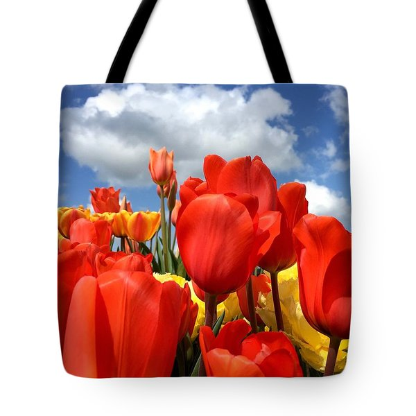 Tulips In The Sky Tote Bag