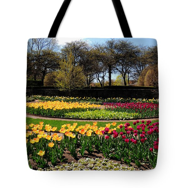 Tulips In The Spring Tote Bag