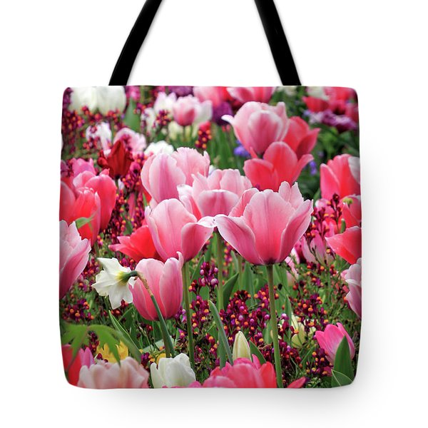 Tote Bag featuring the photograph Tulips by James Eddy