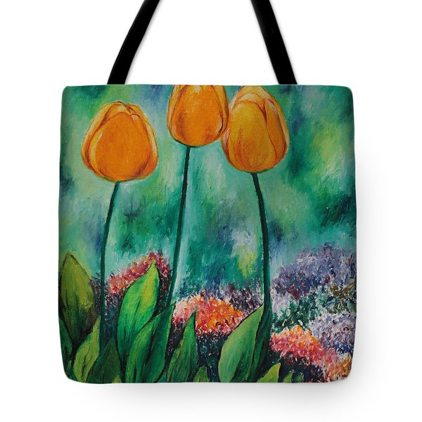 The Three Tulips Tote Bag