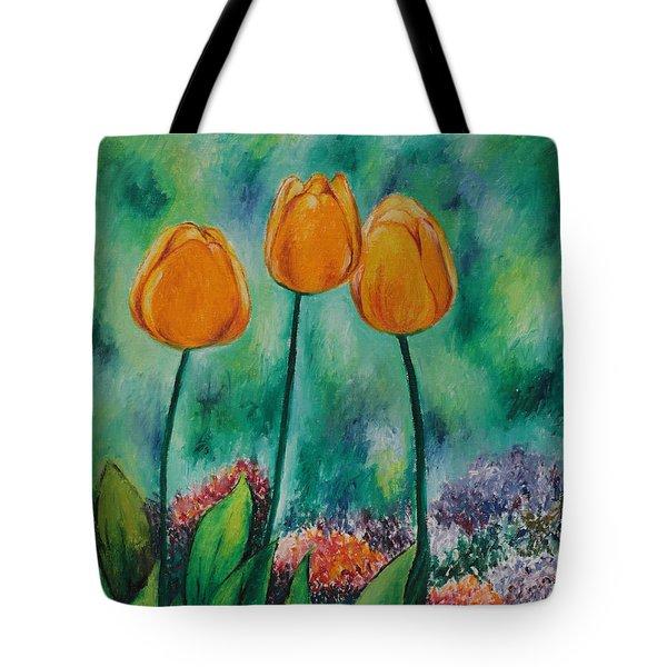 The Three Tulips Tote Bag
