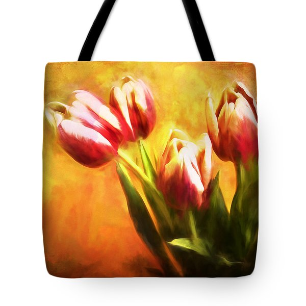 Tulips No 7 Tote Bag by James Bethanis