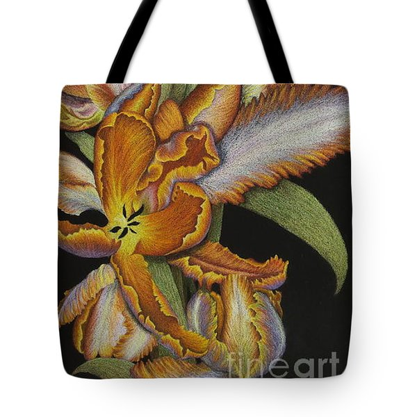 Tulips Of Fire Tote Bag