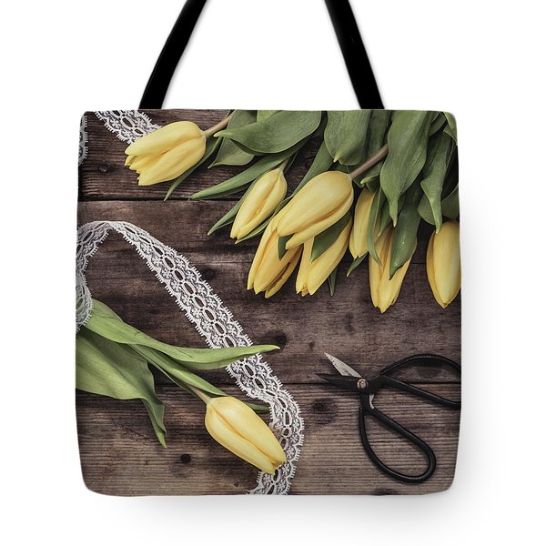 Tote Bag featuring the photograph Tulips Of Spring by Kim Hojnacki