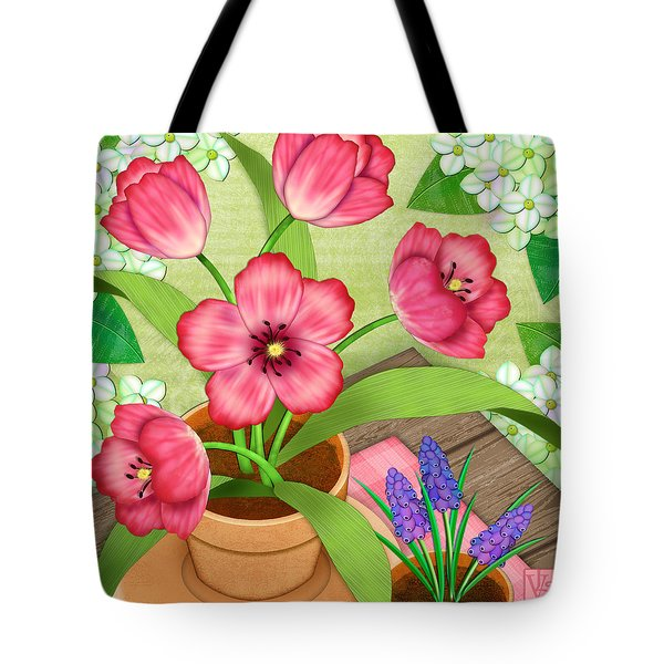 Tulips On A Spring Day Tote Bag