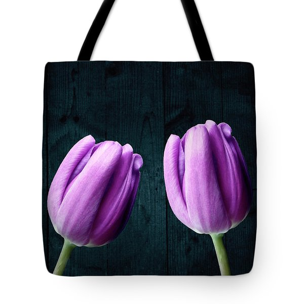 Tulips On Wood Tote Bag