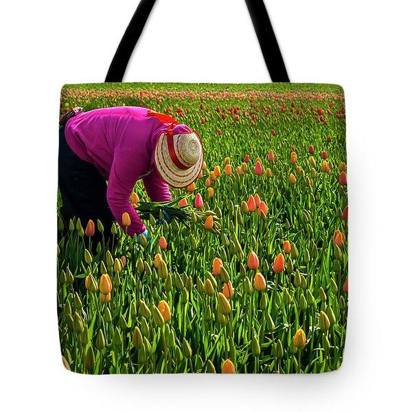 Tulips Picker Tote Bag