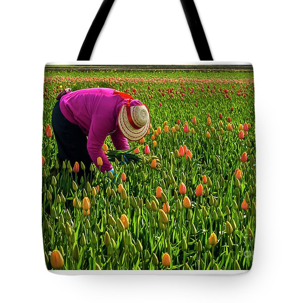 Tulips Picker Tote Bag
