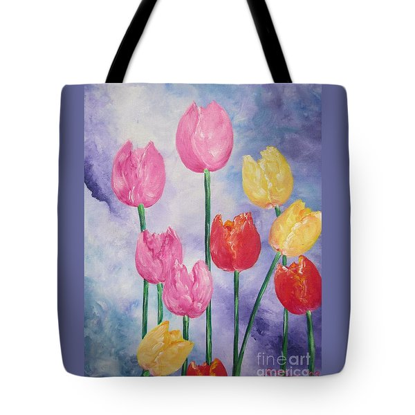 Flying Lamb Productions     Simply Tulips - Red-yellow-pink Tote Bag