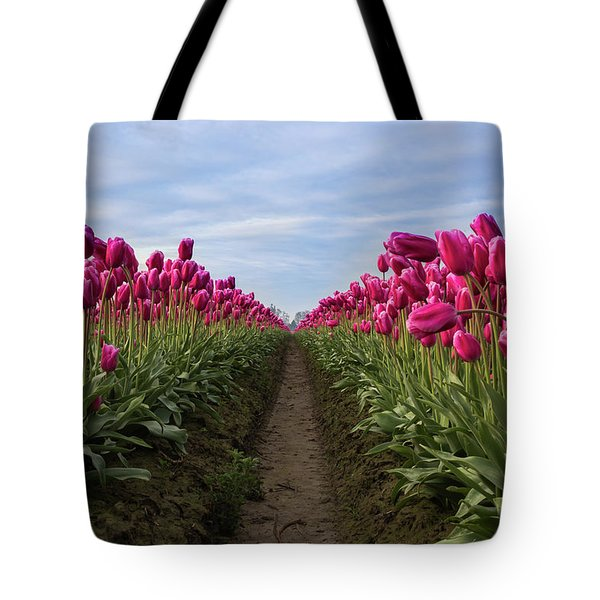 Tulips Reflection Tote Bag